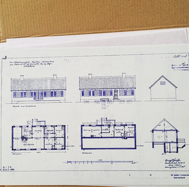 blueprint of architectural drawings