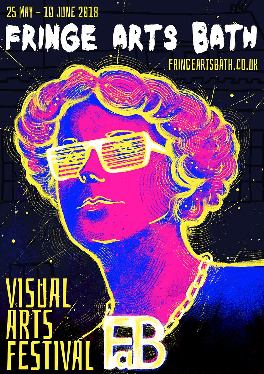 Fringe Arts Bath 2018 festival poster