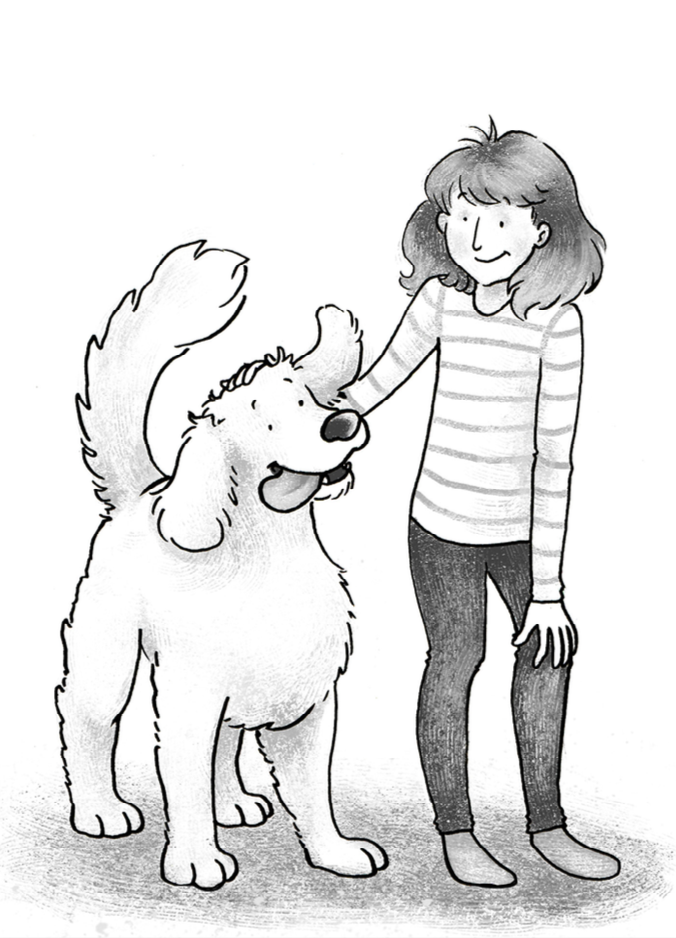 Winston the Winner  by Harriet Devonald (age range: 7-10)    Excerpt from story:  'I'm going to the toilet,' Lucy said. Winston's ears perked up. Lucy turned to him and pointed. 'You're not coming with me.' Winston was trained to follow Lucy wherever she went because she might have a seizure anywhere she went. But Lucy just wanted to escape from him. She stormed down the hallway to their downstairs bathroom. Lucy reached it before Winston and darted inside. But she wasn't quick enough. Winston managed to stick his head and front legs through the door. Lucy didn't like him but she didn't want to squash him. 'Fine!' She said. 'But don't you dare look when I pull down my pants.' And, because Winston was a good dog, he turned away.      Blurb: Lucy's world is falling apart when she is suddenly diagnosed with epilepsy and has to get a Seizure Alert Dog named Winston. But after Winston saves her from having a seizure in the bath, she realises that he can be a friend not just a reminder of her new disability.   Author's brief: A happy, young girl next to a golden retriever dog.   Illustration:  I chose a simple, cartoony way of illustrating the two characters to highlight the appeal to the suggested age range. Influenced by  my own past work as a children's illustrator specialising in dogs and also  t  he original illustrations of Clifford the Big Red Dog by Norman Bridwell , I had a solid idea of how this should look from the moment I saw the brief. The outline is simply drawn in pen and scanned onto Photoshop, with minimal shading and detail added in shades of grey. I was most confident in this out of all the illustrations, as it was firmly in my wheelhouse of past work. Following the completion of the project, the author contacted me expressing how pleased she was with the result and a desire to work together on future projects:' Hi, I'm Harriet Devonald and I wrote Winston the Winner (the piece about a seizure alert dog) which you illustrated.I just want to say a huge 