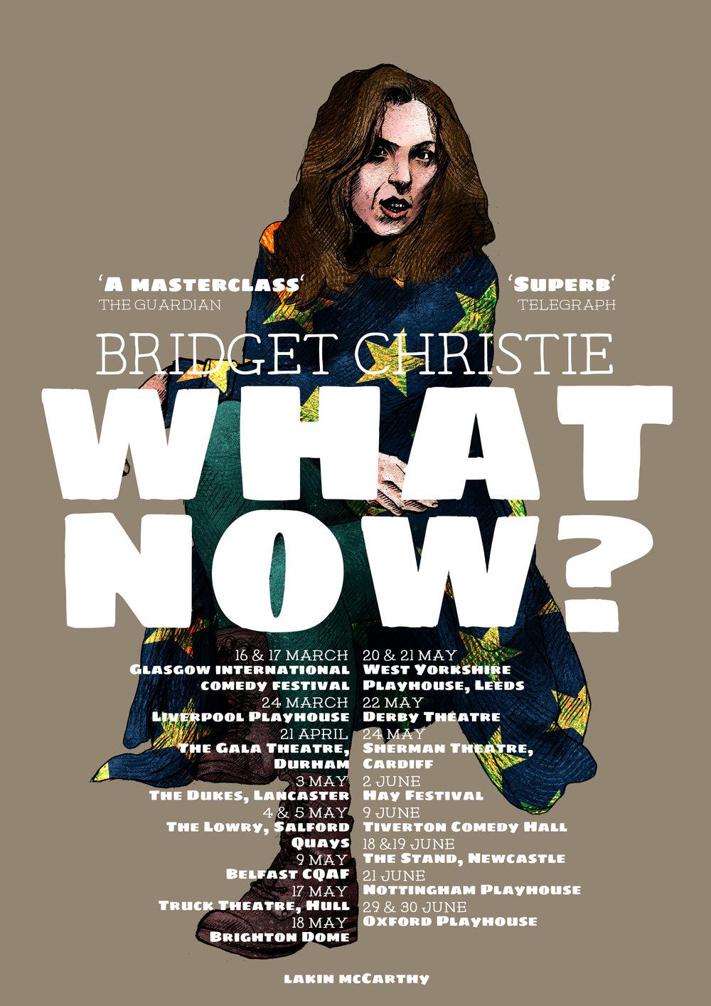 The final version of Bridget Christie's poster