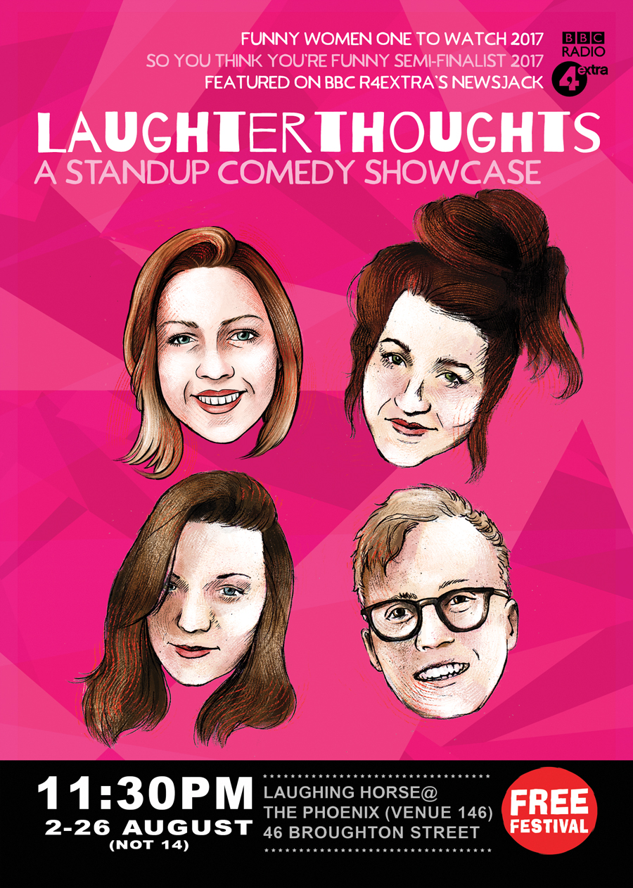 Laughterthoughts: A Standup Comedy Showcase Edinburgh Fringe 2018 poster