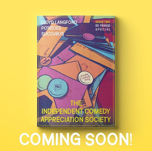 Oh, did I mention we now have A COVER FOR ISSUE TWO?* Out in early August. Maybe even late July, printer permitting. *the bare minimum you'd expect from a magazine.  #indiecomedymag #standup #edfringe #comedy #independentmagazine #smallpress #indiecomedy #indiemagazine