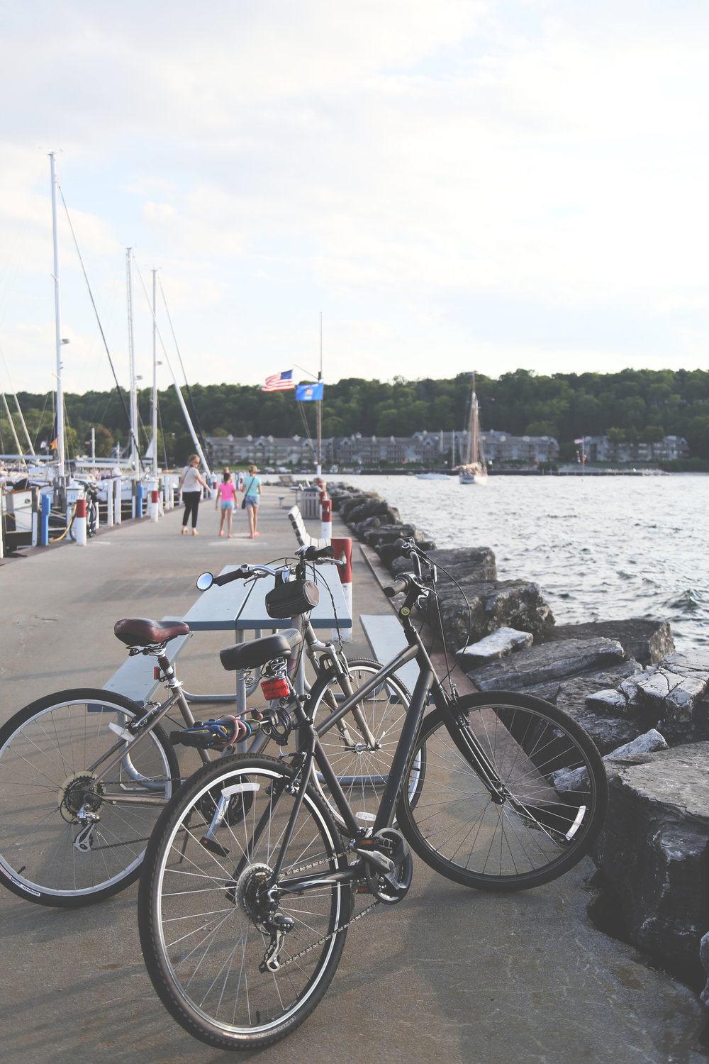 Boats and bikes. But look at that light!