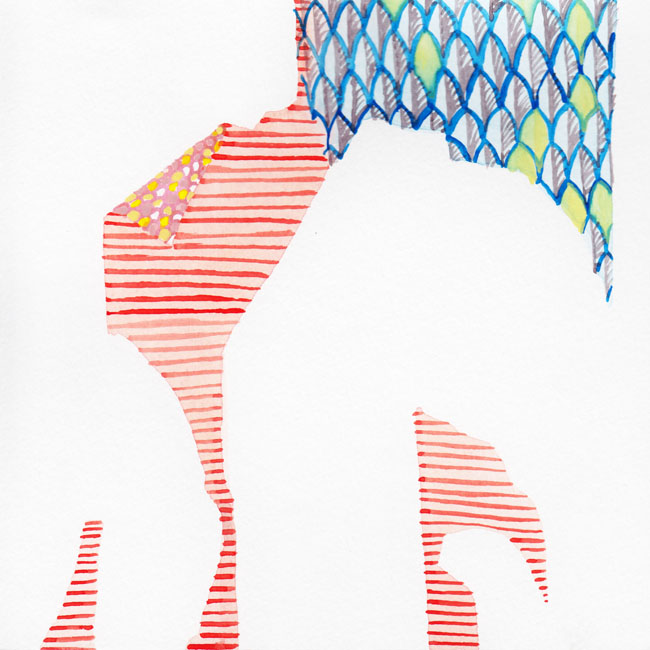 "After Ludovica Gioscia II :: 2012 watercolor 7x6"" SOLD"