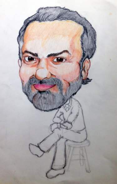 Unfinished illustration of Nick Censullo I did in 1990. He passed away before I could complete it.