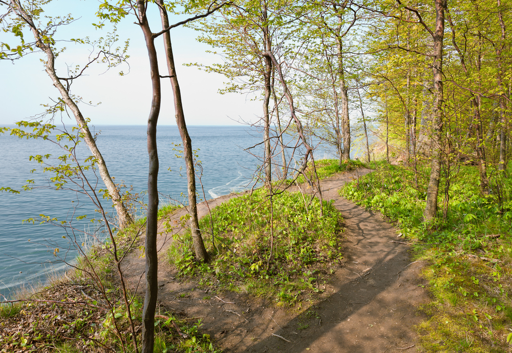 Hikers' Path, Lake Ontario Shoreline at Chimney Bluffs