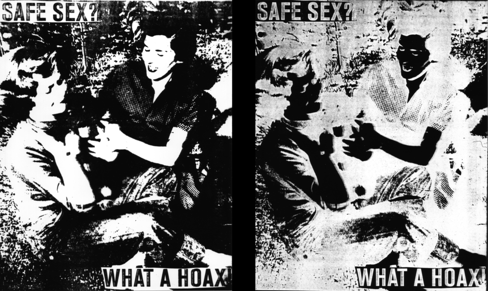 A photo montage circa 1994. In love and inspired by Barbara Kruger's work. This is a family photograph of my grandmother and her sister back in the mid 1900s, which I would have firstly  enlarged on the photocopier bringing it to a pure black and white.  Text would have been printed on transparency and both merged onto lith film and printed on black and white photographic paper, works equally well when photocopied, or being burnt onto a silkscreen, which is maybe why I have always loved maximum contrast.