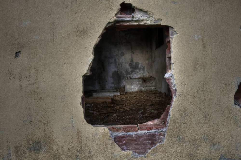 A Hole in the Wall at Northern State Hospital Farm