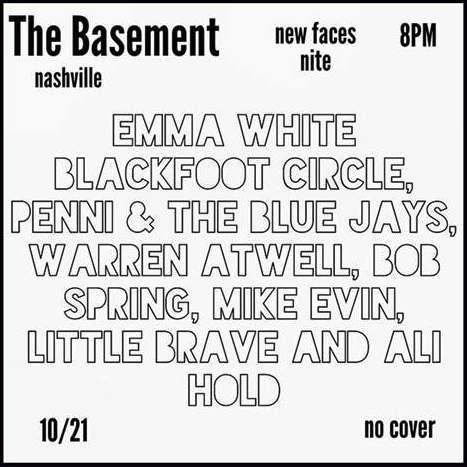 New Faces Nite - The Basement _ Nashville
