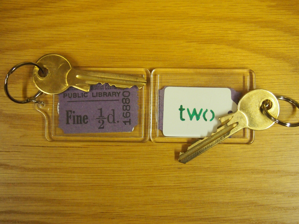 vintage library fine room keys
