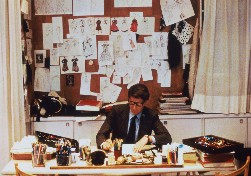 Yves Saint Laurent at work