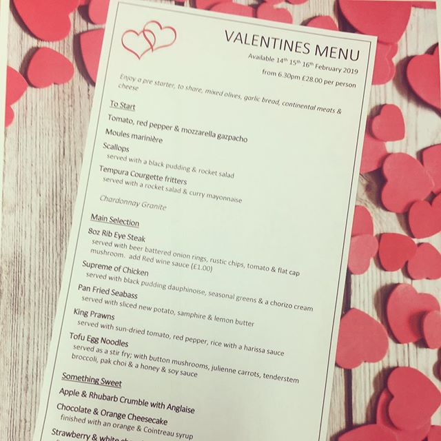 ❤️Valentines Menu available from 14th-16th February❤️ #houndgatetownhouse #darlington #valentines #loveoffood