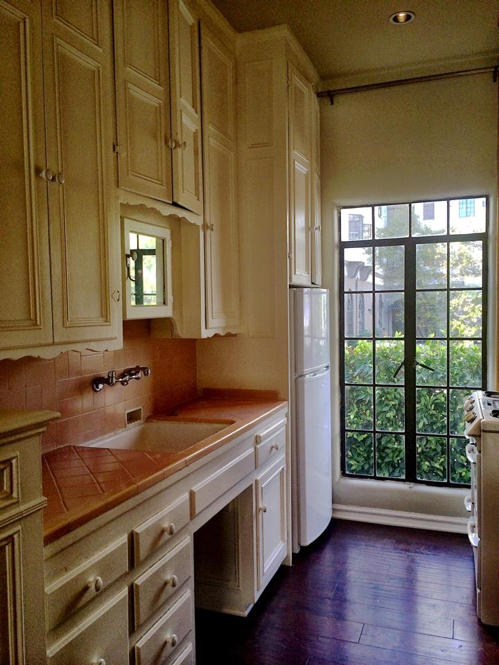 old pic, kitchen has been updated, stone, dishwasher