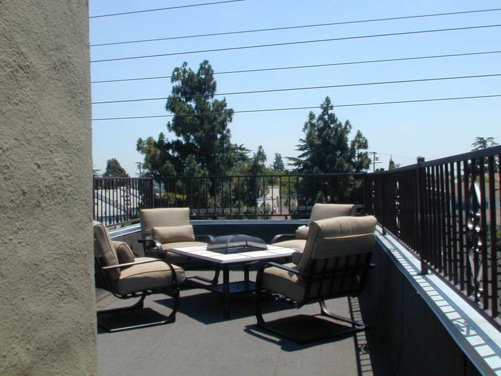 > Common area roof deck with view