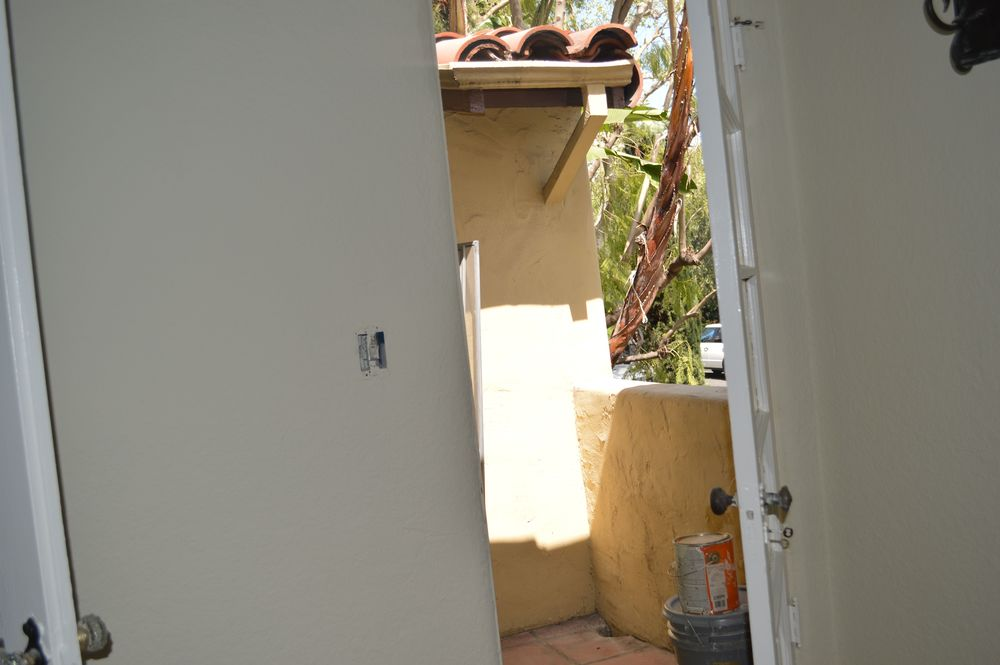 Small private balcony off living room