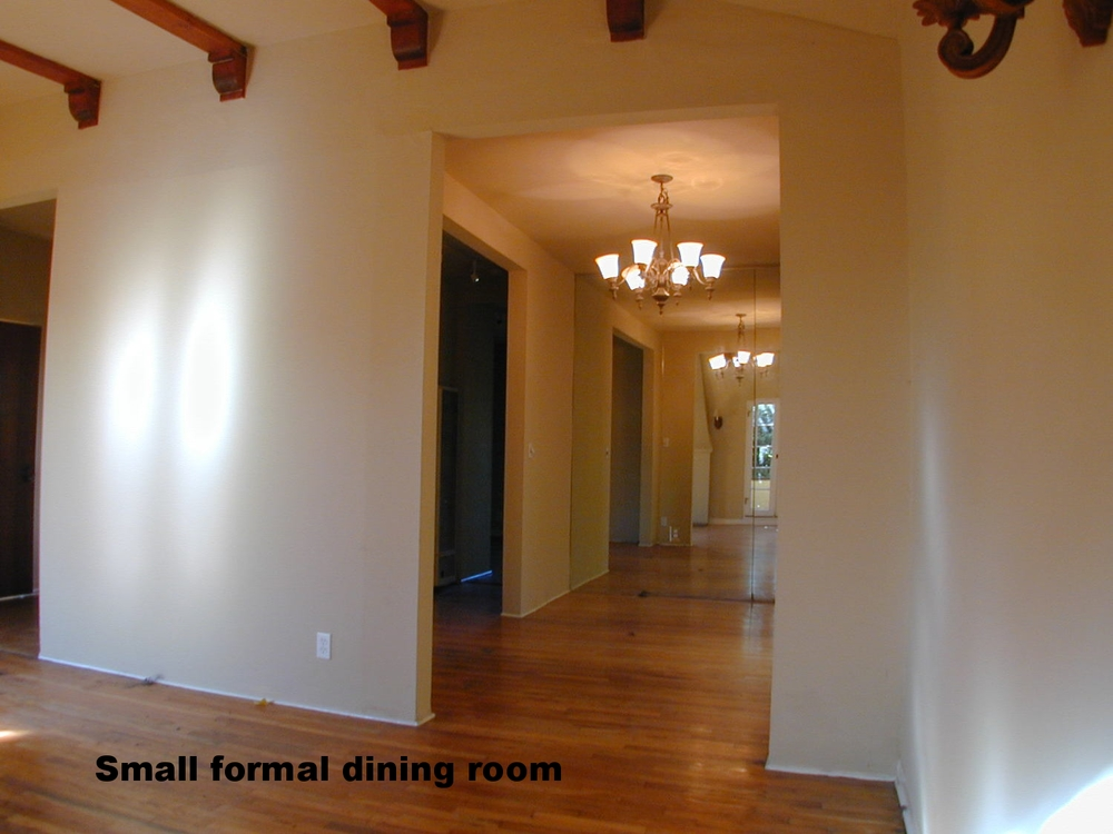 Dining is a separate area with large window
