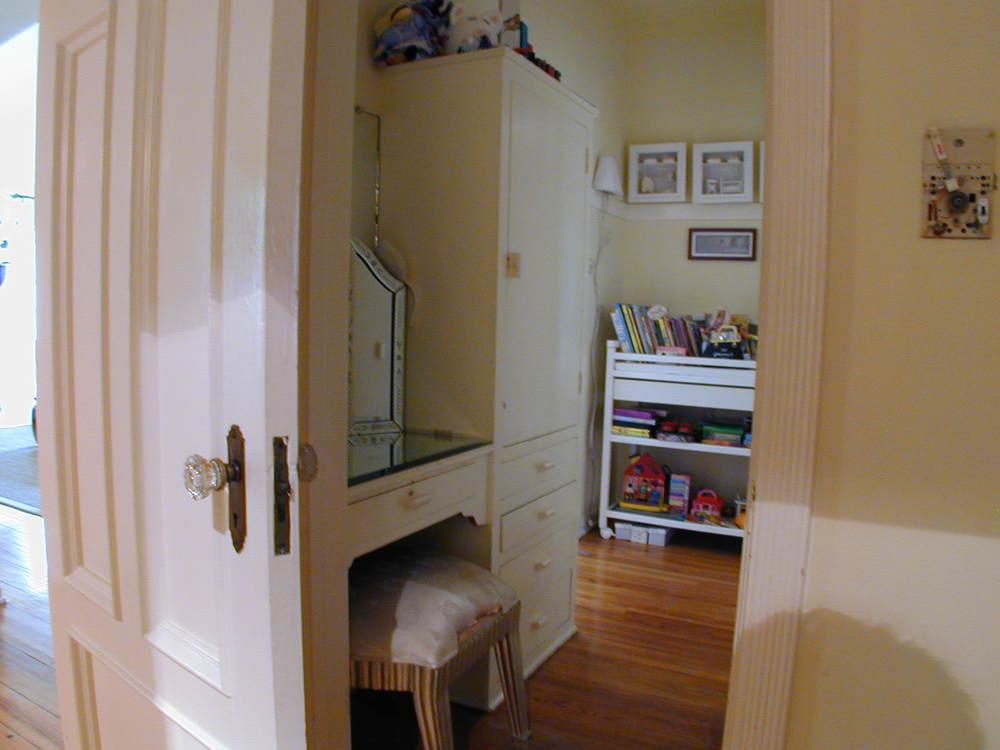 good closet space, shown central dressing room closet