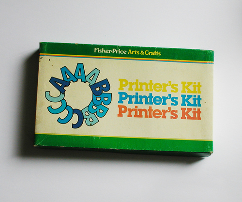 I want a Fisher-Price Printer's Kit