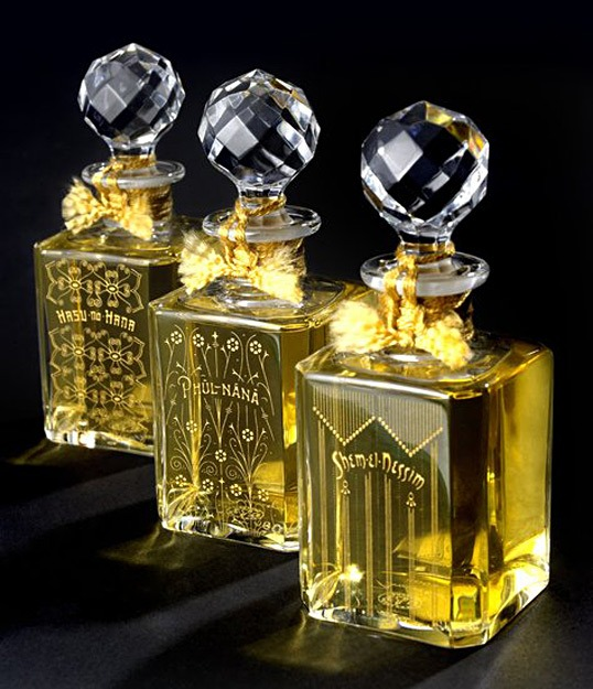 Beautiful perfume branding and bottle design by Holmes and Marchant