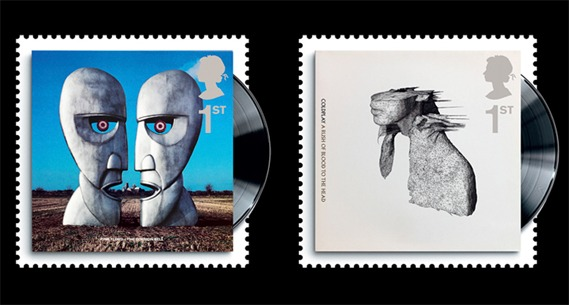 Post office release classic album cover stamps (strangely no beatles)