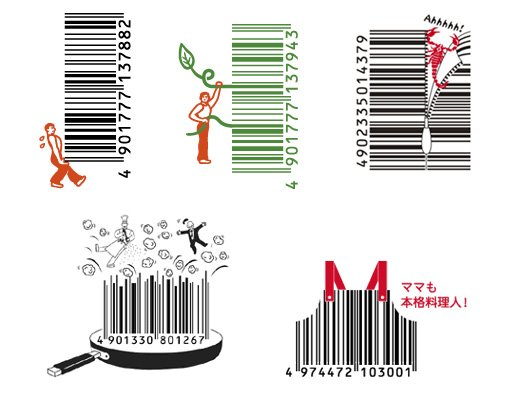 Japanese Creative Barcodes