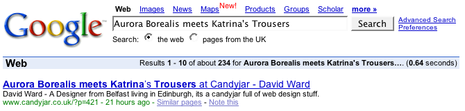 Aurora Borealis meets Katrina's Trousers