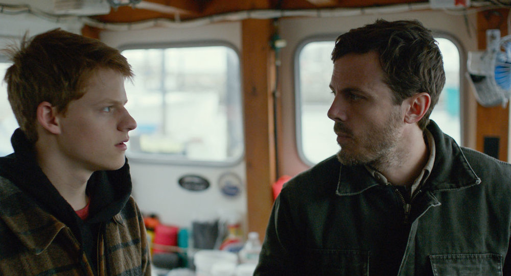 Lucas Hedges and Casey Affleck