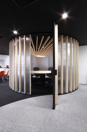 A fun, circular room at CDS Offices in Tokyo, Japan, by Bakoko.