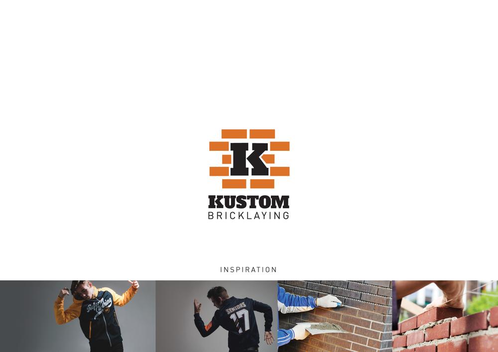 Kustom Bricklaying Logo Design Perth