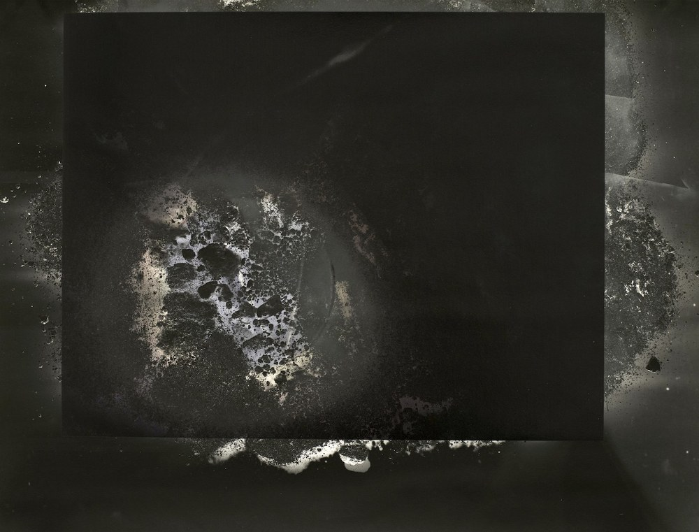 Site II , 2014  inkjet print with UV print overlay  16 x 21.5 inches, 41 x 55 cm
