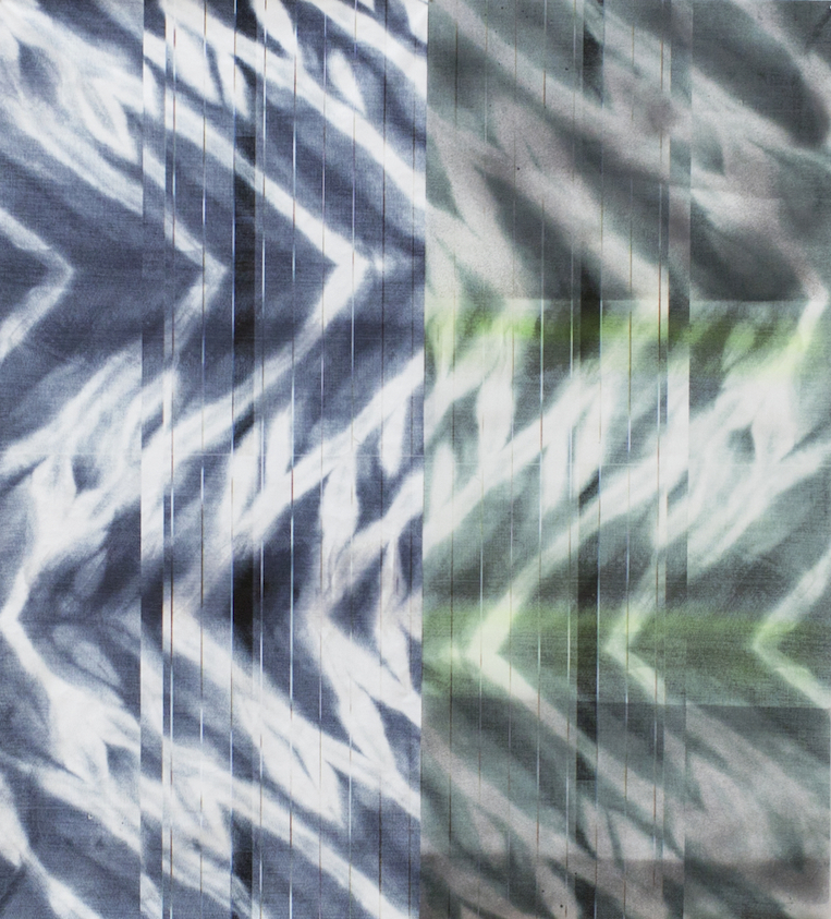 Wave Forms (Blue and Green), 2015