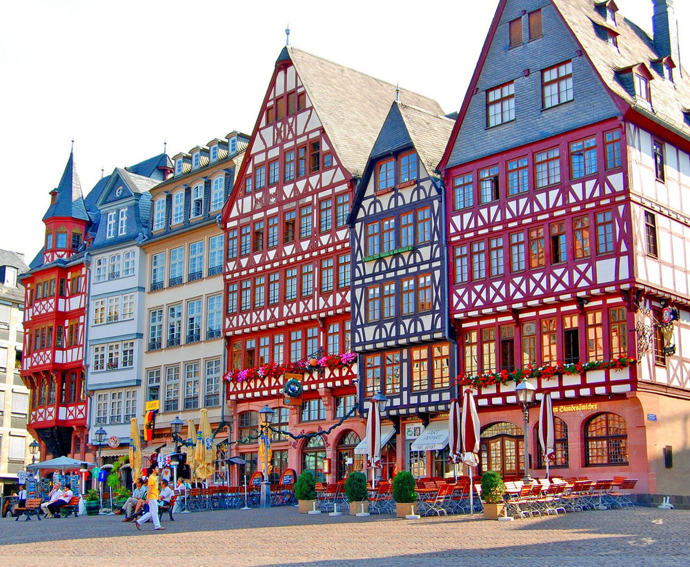 Historic Houses on Frankfurt, Germany