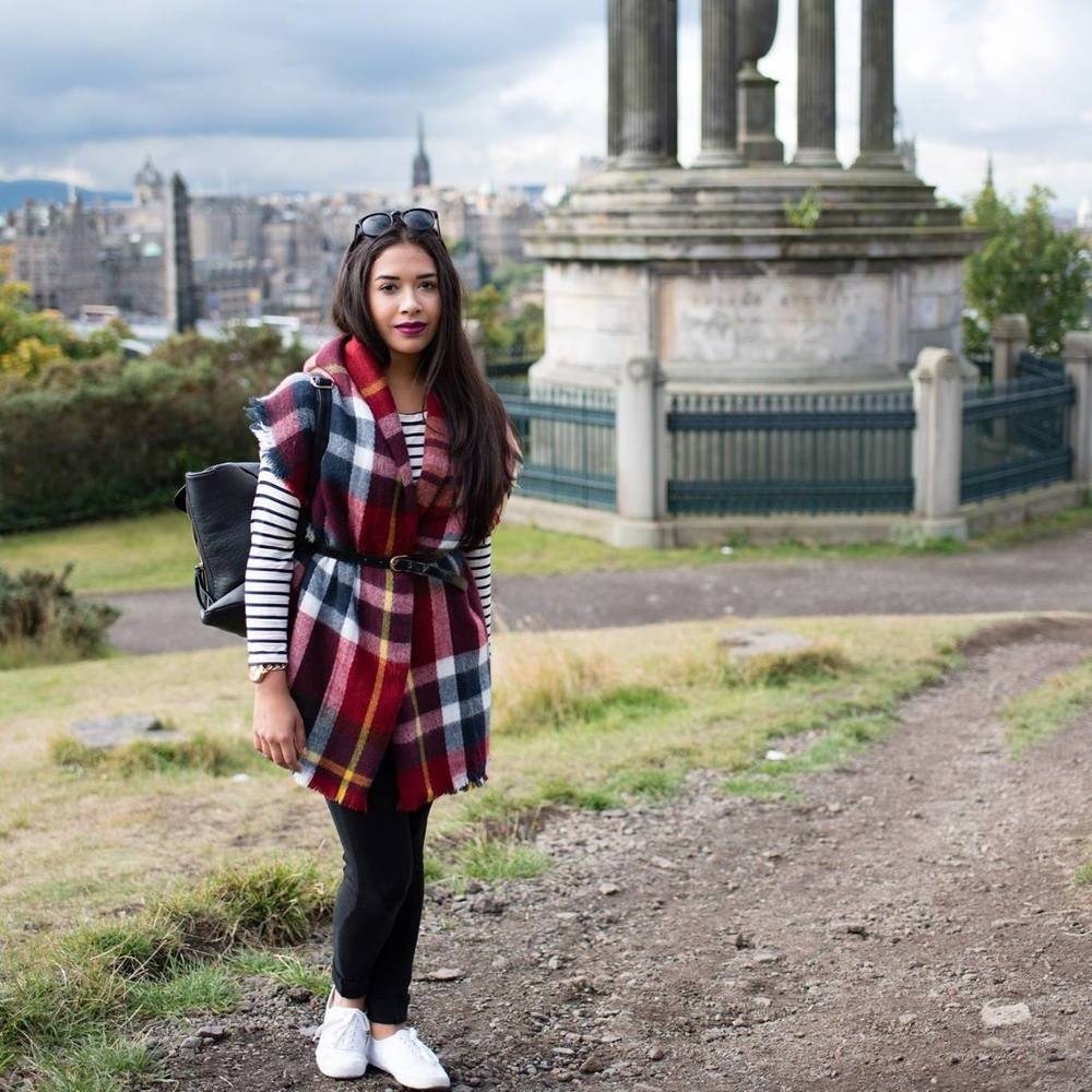 Kathleen Garcia-Manjarres (Kat Garcia) in Edinburgh at Calton Hill - Photography by Alicia Casacchia