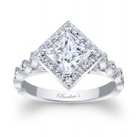 Princess Cut Engagement Ring -