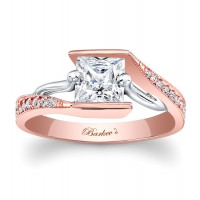 Rose Gold Engagement Ring - 7924LTW