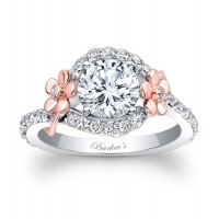 Floral Engagement Ring - 7936LTW