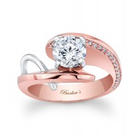Rose & White Gold Engagement Ring - 7619LTW