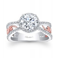 White & Rose Gold Engagement Ring - 7885LTW