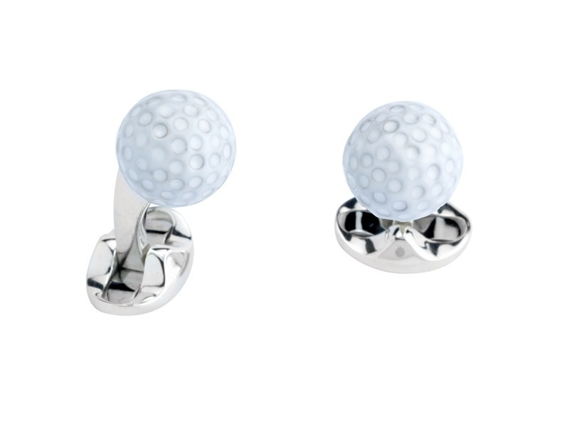 Silver Golf Ball Cufflinks