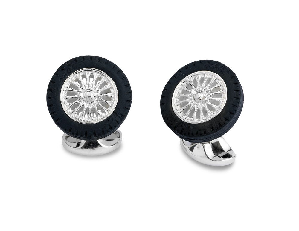 Silver Tyre & Wheel Cufflinks