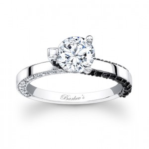 Black Diamond Engagement Ring - 7870LBKW