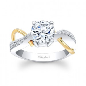 Two Tone Engagement Ring - 6818LTYW