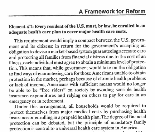 Heritage's Individual Mandate (from 1989)