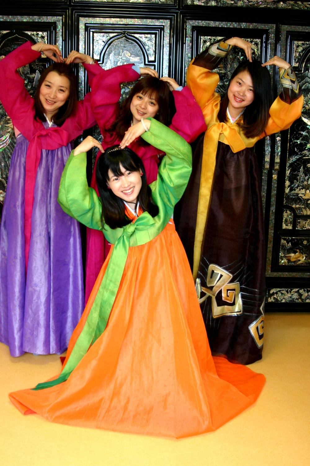 Our guest who wearing the Hanbok