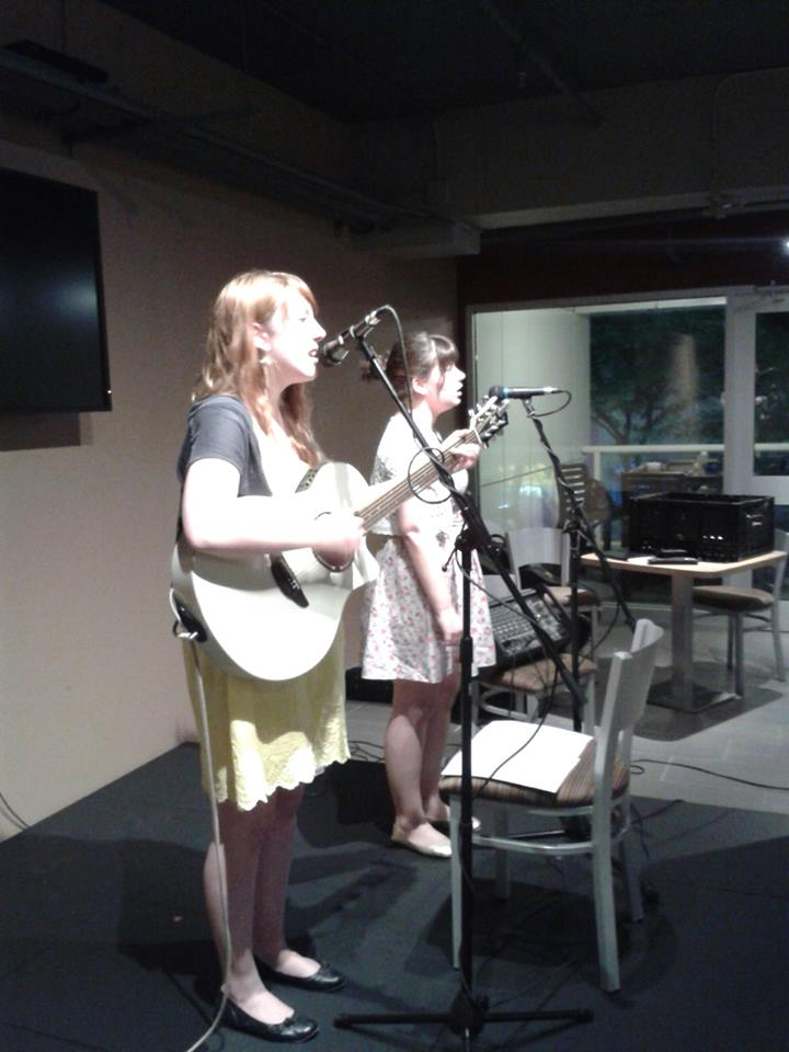 Me and Anne at new Green Bean Open Mic