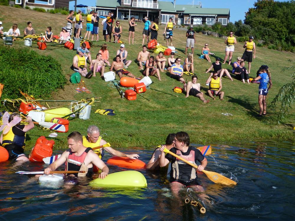 raft building race