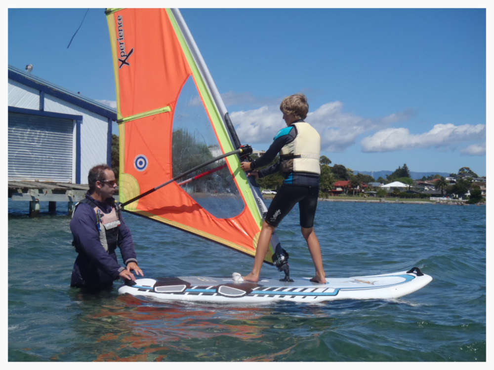 Learn to windsurf course
