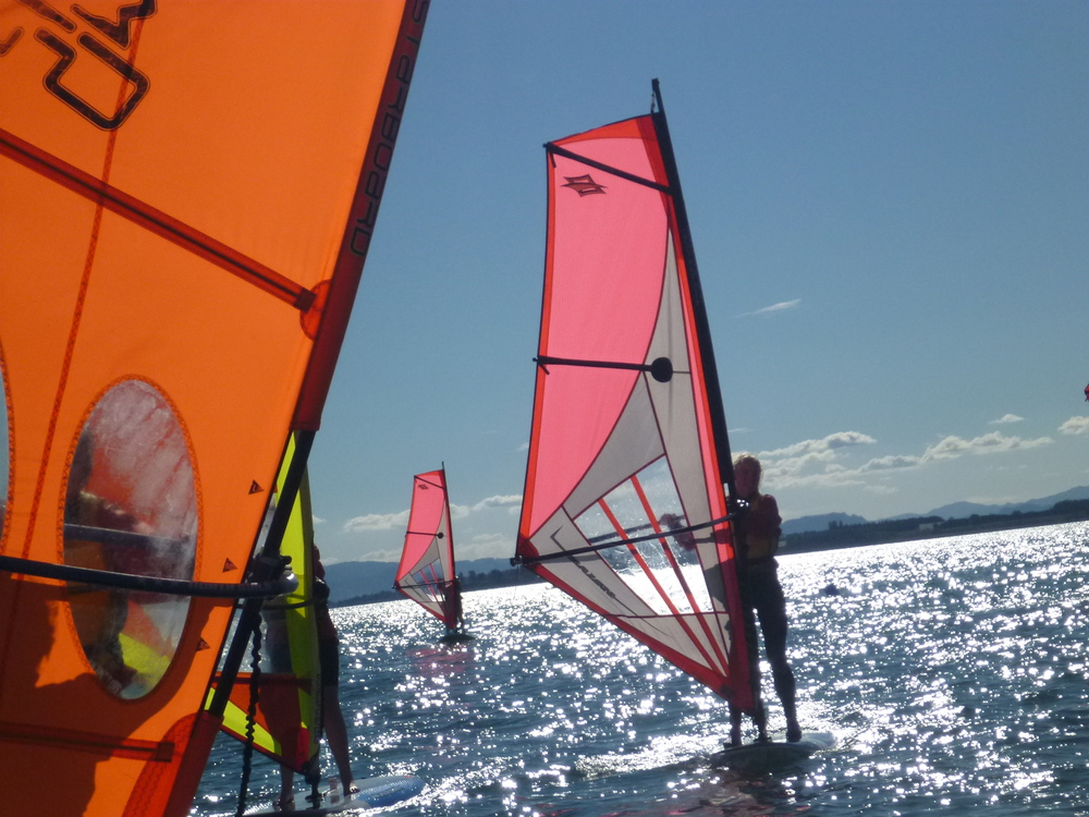 Kids love to learn to windsurf