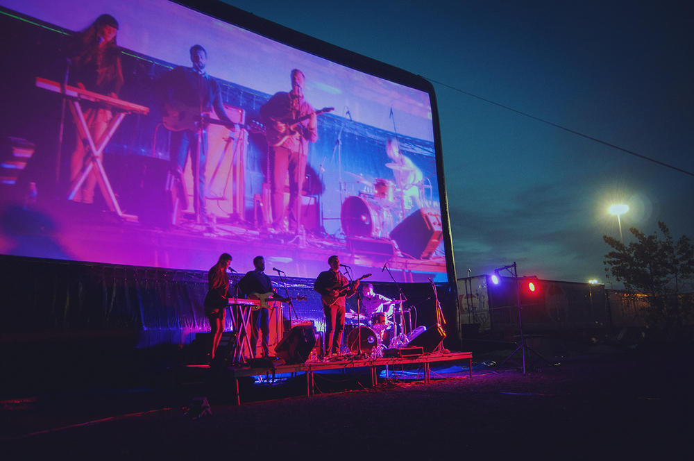 Rumors Performing for Rooftop Films