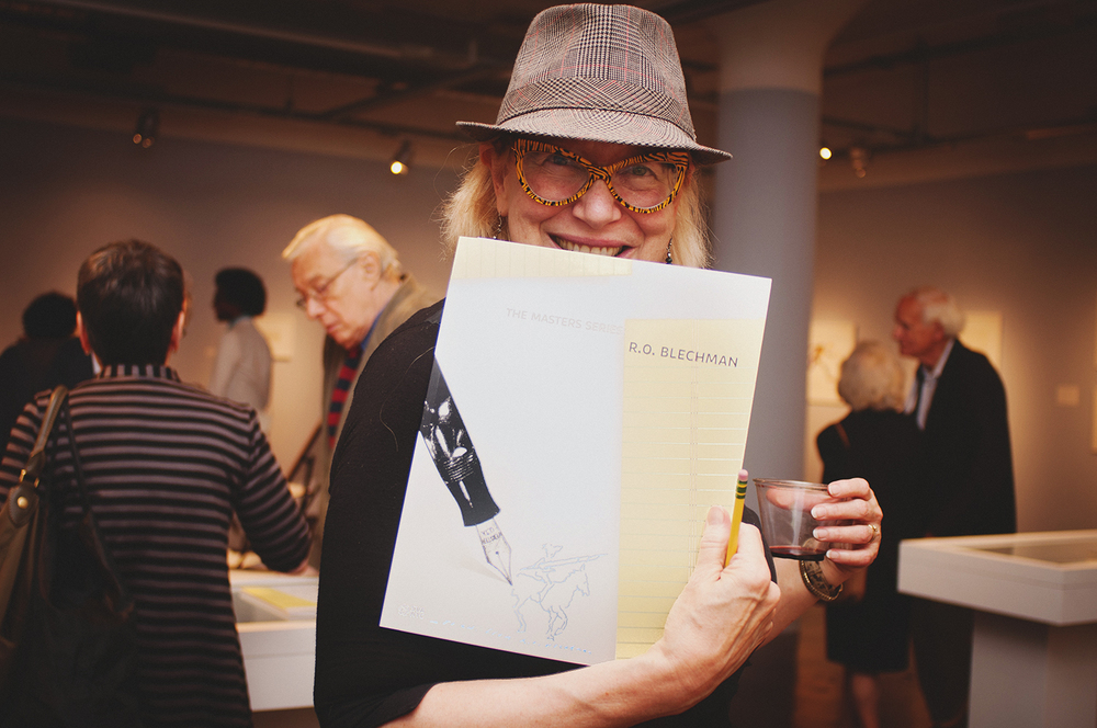 "Opening Reception for "" The Masters Series: R.O Blechman "" School of Visual Arts SVA Gallery, NYC, 2013"